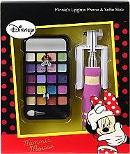 Парфюмерия и Козметика Комплект с детска декоративна козметика - Markwins Minnie Mouse Lip Gloss Phone & Selfie Stick