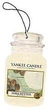"""Парфюми, Парфюмерия, козметика Ароматизатор """"Масло Ший"""" - Yankee Candle Shea Butter Car Jar Ultimate"""