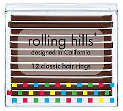 Парфюмерия и Козметика Комплект ластици за коса - Rolling Hills Classic Hair Rings Brown