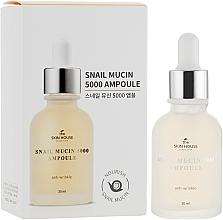 Парфюмерия и Козметика Подмладяващ серум за лице с муцин от охлюв и колаген - The Skin House Snail Mucin 5000 Ampoule