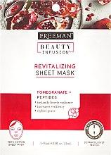 Парфюмерия и Козметика Възстановяваща маска лице от плат - Freeman Beauty Infusion Revitalizing Peel-Off Mask Pomegranate + Peptides