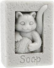 """Парфюмерия и Козметика Натурален сапун """"Котка с топка"""", сив - LaQ Happy Soaps"""