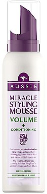 Мус за обем на косата - Aussie Mousse Miracle Styling For Volume & Conditioning — снимка N1