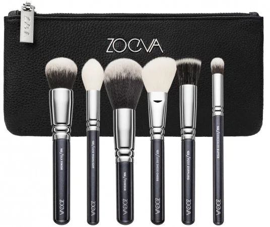 Комплект четки за грим, 6 бр - Zoeva Classic Face Set — снимка N1