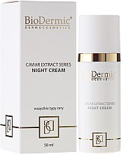 Парфюмерия и Козметика Нощен крем за лице - BioDermic Caviar Extract Night Cream
