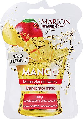 "Маска за лице ""Манго"" - Marion Fit & Fresh Mango Face Mask"