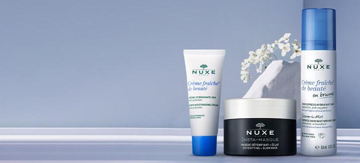 Получавате подарък хидратиращ крем за лице при покупка на продукти NUXE за сума над 43 лв.