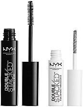 Парфюми, Парфюмерия, козметика NYX Professional Makeup Double Stacked Mascara - Комплект спирала и основа за мигли (mascara 10 ml + base 0,9 ml)