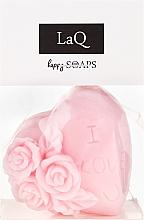 """Парфюмерия и Козметика Ръчно изработен натурален сапун """"Обичам те"""" с аромат на вишни - LaQ Happy Soaps Natural Soap"""