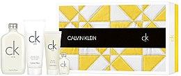 Парфюми, Парфюмерия, козметика Calvin Klein CK One - Комплект (тоал. вода/200ml + душ гел/100ml + лосион за тяло/200ml + тоал. вода/15ml)