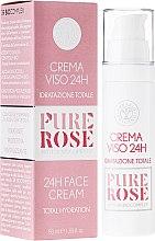 Парфюмерия и Козметика Овлажняващ крем за лице - Erbario Toscano Pure Rose 24H Face Cream