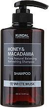 """Парфюми, Парфюмерия, козметика Шампоан за коса """"Бял мускус"""" - Kundal Honey & Macadamia Shampoo White Musk"""
