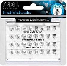 Парфюми, Парфюмерия, козметика Комплект мигли на снопчета - Ardell Individuals Duralash Knotted Flare Trio Lashes Black Medium
