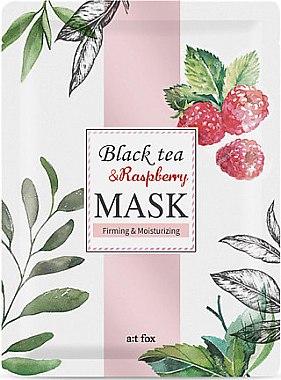 """Укрепваща и хидратираща маска за лице """"Black Tea Raspberry"""" - A:t fox Black Tea Raspberry Mask"""