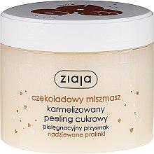 """Парфюмерия и Козметика Захарен пилинг за тяло """"Шоколадова пралина"""" - Ziaja Sugar Body Peeling"""
