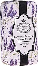 """Парфюмерия и Козметика Натурален сапун """"Лавандула и мащерка"""" - Essencias De Portugal Natura Lavander&Thyme Soap"""