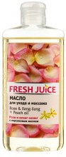 Парфюмерия и Козметика Масажно масло с екстракт роза и иланг-иланг + масло от праскова - Fresh Juice Energy Rose&Ilang-Ilang+Peach Oil
