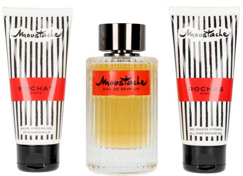 Комплект - Rochas Moustache (парф. вода/125ml+душ гел/100ml+балсам за тяло/100ml)