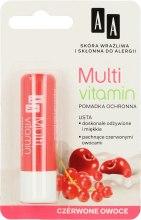 """Парфюми, Парфюмерия, козметика Балсам за устни """"Червени плодове"""" - AA Cosmetics Multi Vitamin Protective Lipstick"""