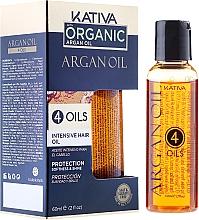 """Парфюмерия и Козметика Защитен концентрат за възстановяване на косата """"4 масла"""" - Kativa Argan Oil"""