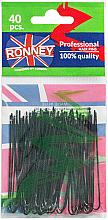 Парфюми, Парфюмерия, козметика Фуркети, черни 65 мм, 40 бр. - Ronney Black Hair Pins