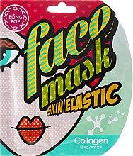 Парфюмерия и Козметика Лифтинг гел-маска за лице с колаген - Bling Pop Collagen Skin Elastic Face Mask