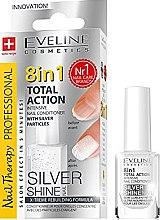 Парфюми, Парфюмерия, козметика Възстановяващ лак за нокти 8в1 - Eveline Cosmetics 8in1 Silver Shine Nail Therapy
