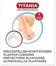 Парфюмерия и Козметика Защитна подложка за стъпала срещу натиск, 1 чифт - Titania Plantar Cushions