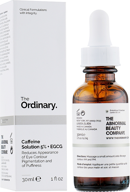 Околоочен серум с кофеин - The Ordinary Caffeine Solution 5% + EGCG