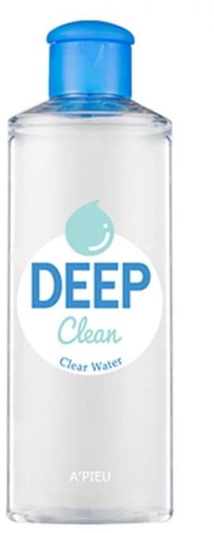 Почистваща вода за лице - A'pieu Deep Clean Clear Water — снимка N1