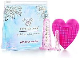 Парфюмерия и Козметика Силиконови вендузи за масаж на лице - Crystallove Crystalcup For Face, Eyes & Neck Rose Set