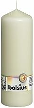 Парфюмерия и Козметика Цилиндрична свещ, кремова, 200/70 мм - Bolsius Candle