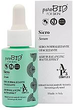 Парфюмерия и Козметика Матиращ серум за лице за мазна кожа - PuroBio Cosmetics Serum Balancing Matte Effect
