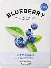 Парфюмерия и Козметика Памучна маска за лице - It's Skin The Fresh Blueberry Mask Sheet