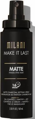 Спрей за фиксиране на грим - Milani Make It Last Matte Charcoal Setting Spray — снимка N1