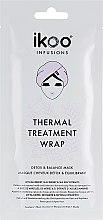 """Парфюмерия и Козметика Термалана шапка-маска за коса """"Детокс и баланс"""" - Ikoo Infusions Thermal Treatment Wrap"""