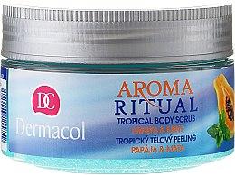 Парфюмерия и Козметика Захарен пилинг за тяло с аромат на папая и мента - Dermacol Aroma Ritual Papaya&Mint Body Scrub