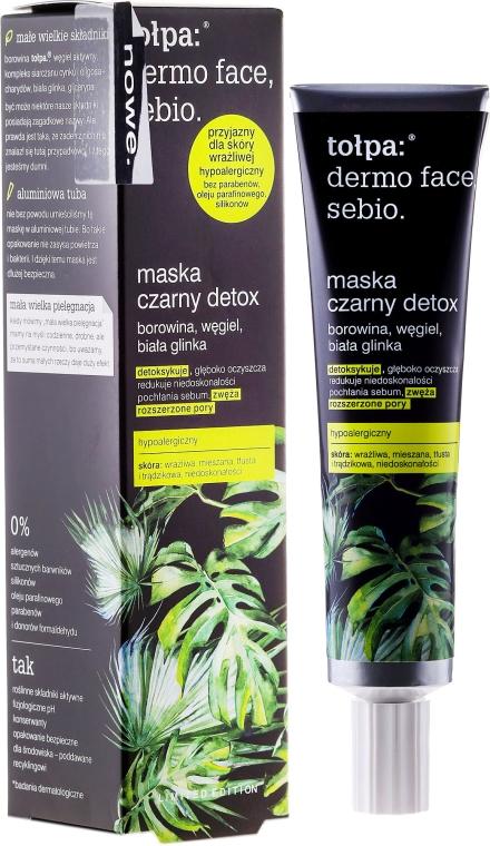 Детокс маска за лице - Tolpa Dermo Face Sebio Black Detox Mask