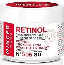 Парфюми, Парфюмерия, козметика Възстановяващ крем за лице 80+ - Mincer Pharma Retinol № 505