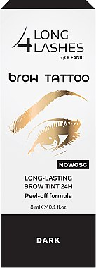 Траен тинт за вежди - Long 4 Lashes Brow Tattoo Long Lasting Brow Tint 24h