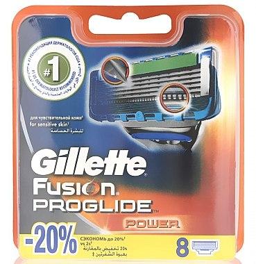 Сменяеми ножчета за бръснене, 8 бр. - Gillette Fusion ProGlide Power — снимка N1