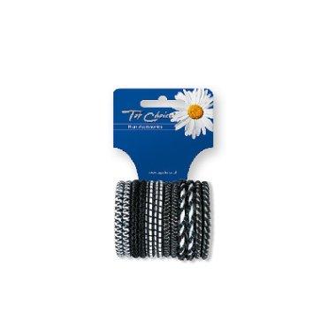 Ластици за коса 12 бр., микс 22371 - Top Choice — снимка N1