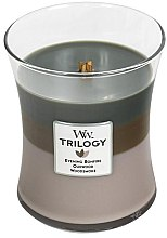 Парфюми, Парфюмерия, козметика Ароматна свещ в чаша - WoodWick Hourglass Trilogy Candle Cozy Cabin