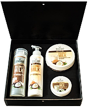 """Парфюми, Парфюмерия, козметика Комплект за тяло """"Кокосово мляко"""" - Stani Chef's Coconut Milk (лосион/250ml + душ гел/250ml + скраб/250ml + крем за ръце/100ml)"""