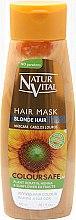 Парфюми, Парфюмерия, козметика Маска за запазване на цвета на боядисана коса - Natur Vital Coloursafe Henna Hair Mask Blonde Hair