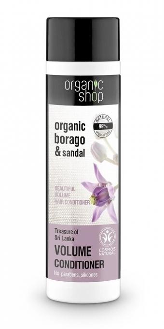 """Балсам """"Гъста коса със съкровище от Шри Ланка"""" - Organic Shop Organic Sandal and Indian Nut Volume Conditioner"""
