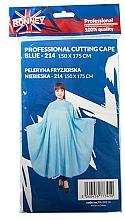 Парфюмерия и Козметика Пелерина за подстригване , синя - Ronney Professional Cutting Cape