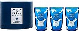 Парфюми, Парфюмерия, козметика Acqua di Parma Blu Mediterraneo - Комплект парфюмни свещи (3xcandle/65g)