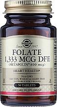 """Парфюмерия и Козметика Хранителна добавка """"Фолиева киселина"""" (Metafolin 800 mcg), на таблетки - Solgar"""