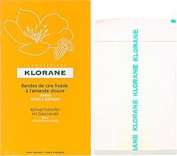 Парфюмерия и Козметика Ленти за депилация с масло от бадем - Klorane Cold Wax Strips